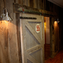 Barn siding and Cotton warehouse door