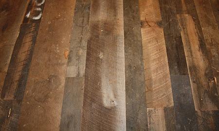 Antique reclaimed barnwood flooring green family materials for Old barn wood floors