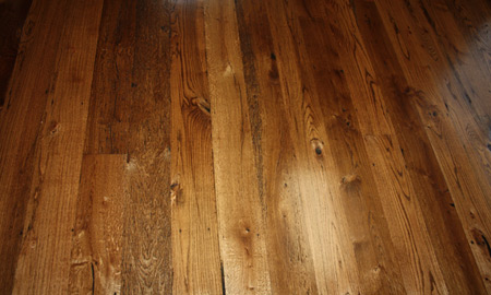 Antique Reclaimed Oak Flooring Green
